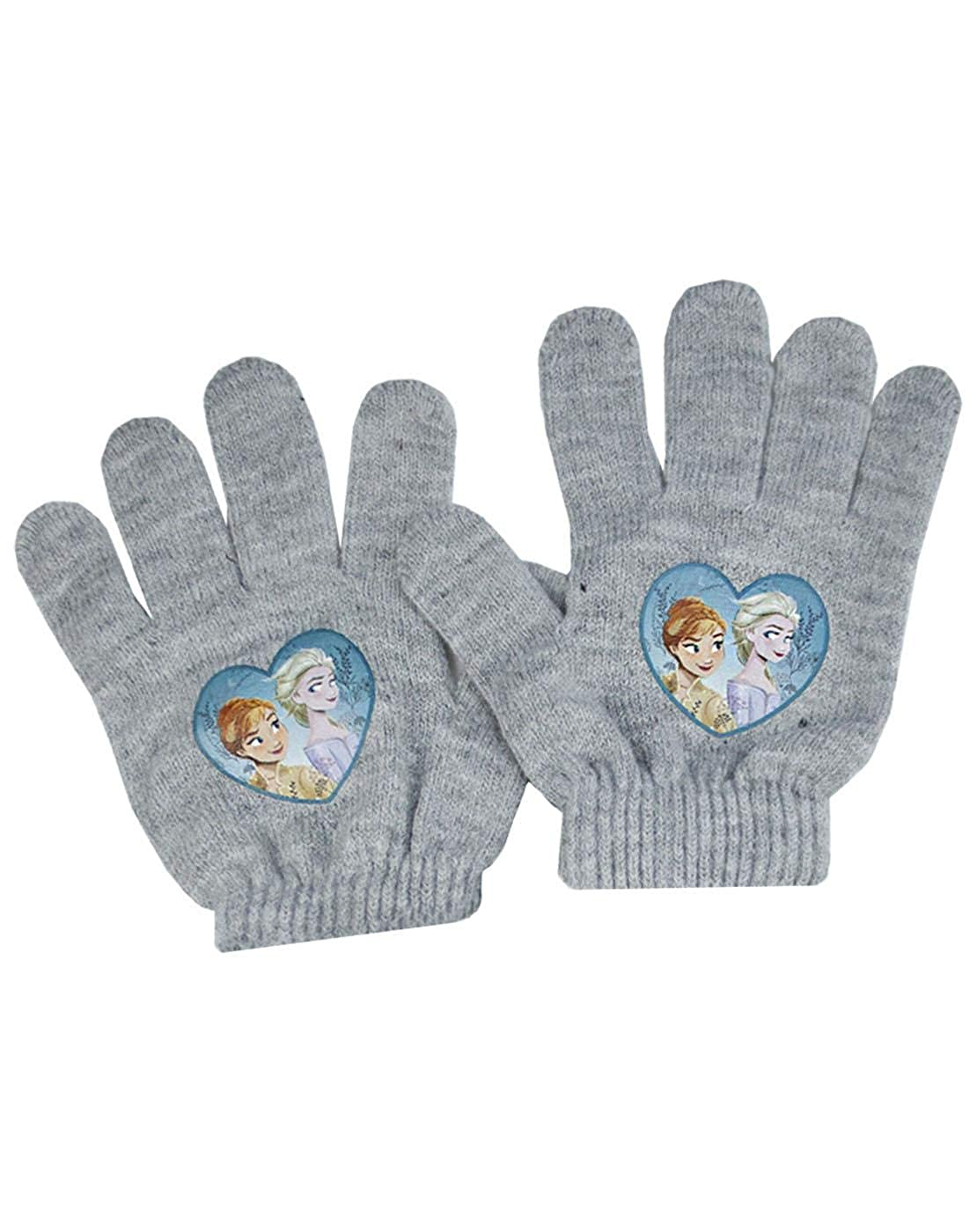 Disney Frozen 2 Elsa And Anna Faux Fur Bobble Hat And Glove Girls Set