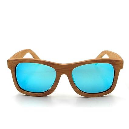 LHHMZ Hombre/Mujer Gafas de Sol de Madera de bambú genuinas polarizadas Gafas de Sol Ciclismo Ligeras Gafas de Vintage reflejado Flota en el Agua