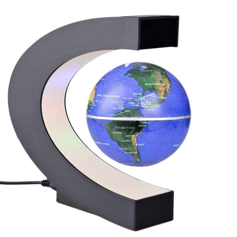 FidgetGear 8 C B07PLTGKH7 LED/C Shape Magnetic Levitation World Map Blue Light Decor Floating Globe 3 Colors 6 inch Blue B07PLTGKH7 C Shape Blue C Shape Blue, シルバーカーと車椅子の店YUA:75fbcea8 --- 2017.goldenesbrett.net