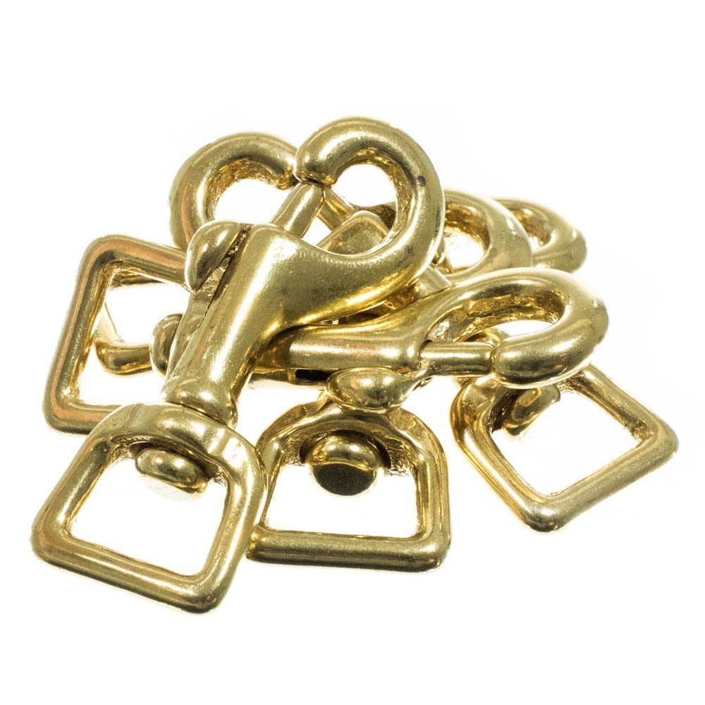 Available in Sizes of 1//4 Great for Repairs and Utility Crafting Variety of Pack Sizes and 3//4 Inches 1//2 3//8 PARACORD PLANET Brass Swivel Snap Hooks
