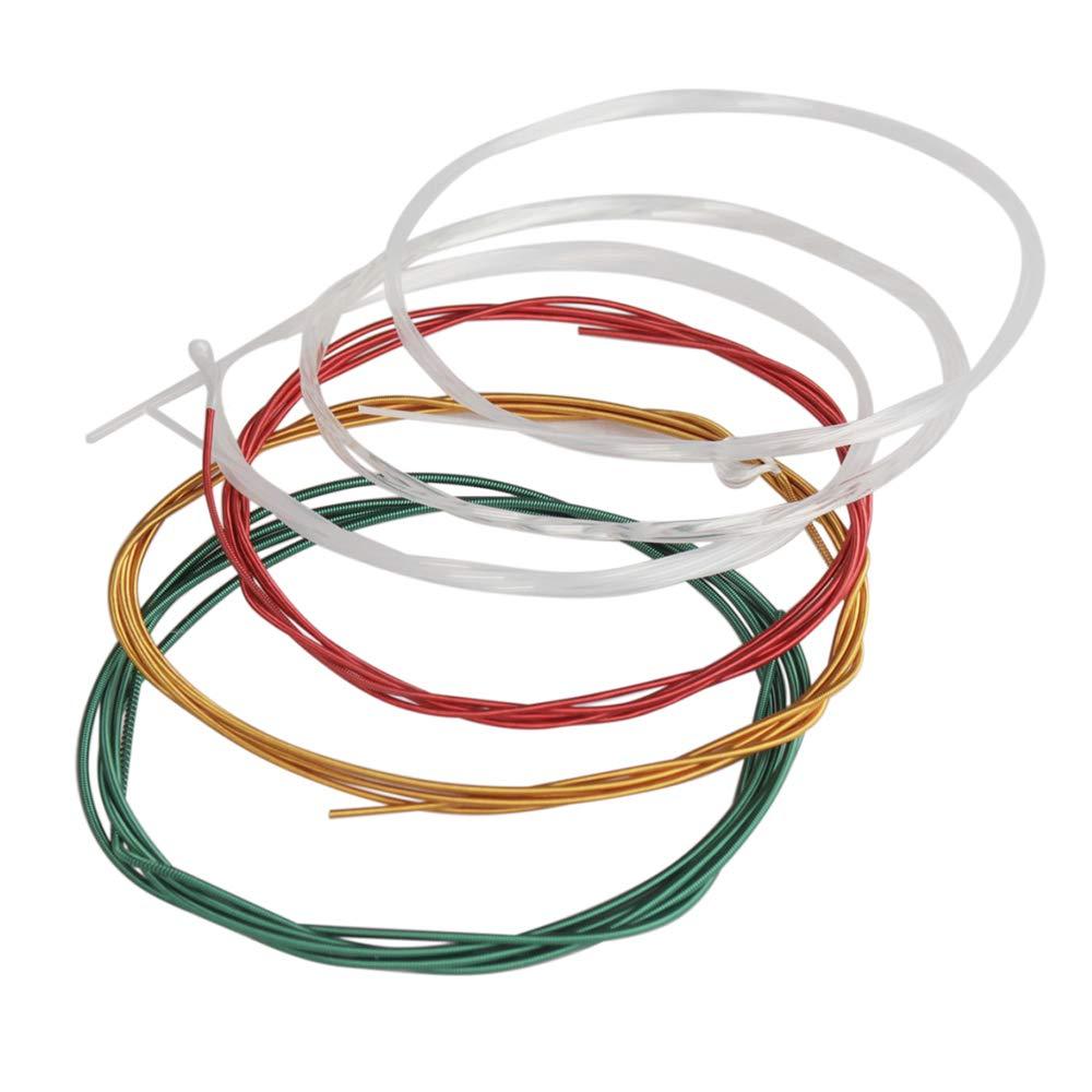 6 pezzi//set .028-.043 Kalaok C105 Colorful Arcobal Corde per chitarra classica acustica Nylon Core Colorato rivestito in lega di rame Ferita