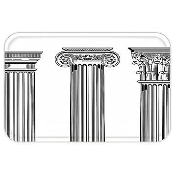 kisscase Custom puerta matpillar Decor antiguo tema columna capitalillustration antigua arquitectura patrón negro y blanco