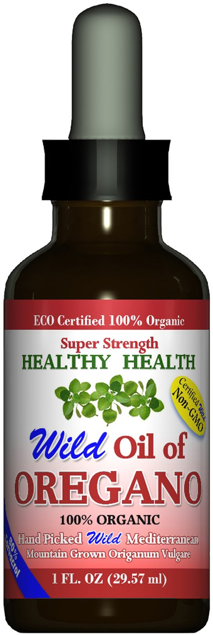 ''Super Strength'' 80% Carvacrol Wild Mediterranean Turkish 100% Eco Certified Organic Oil of Oregano