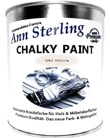 Ann Sterling Kreidefarbe Shabby Chic Farbe: Oldwhite / Altweiß 750ml ...