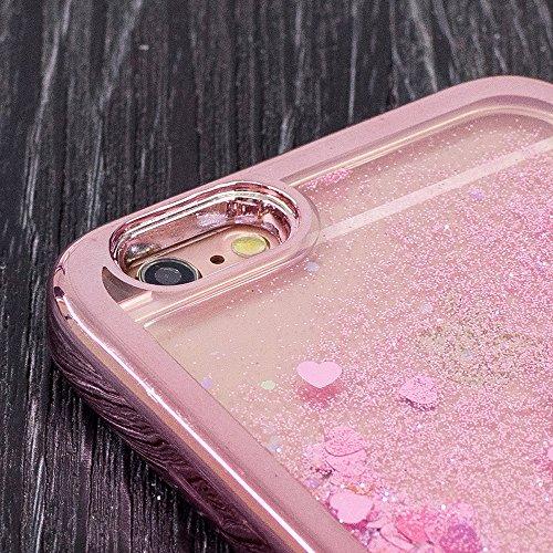Vandot Funda para iPhone 6s Brillante Caso Shell, Ultrafino Fluido Líquido Cristal Caso Bling Arena Movediza Patrón TPU Silicona Cubierta de la Caja del Teléfono para iPhone 6/6s 4.7, Diseño de Maripo CH LS 06