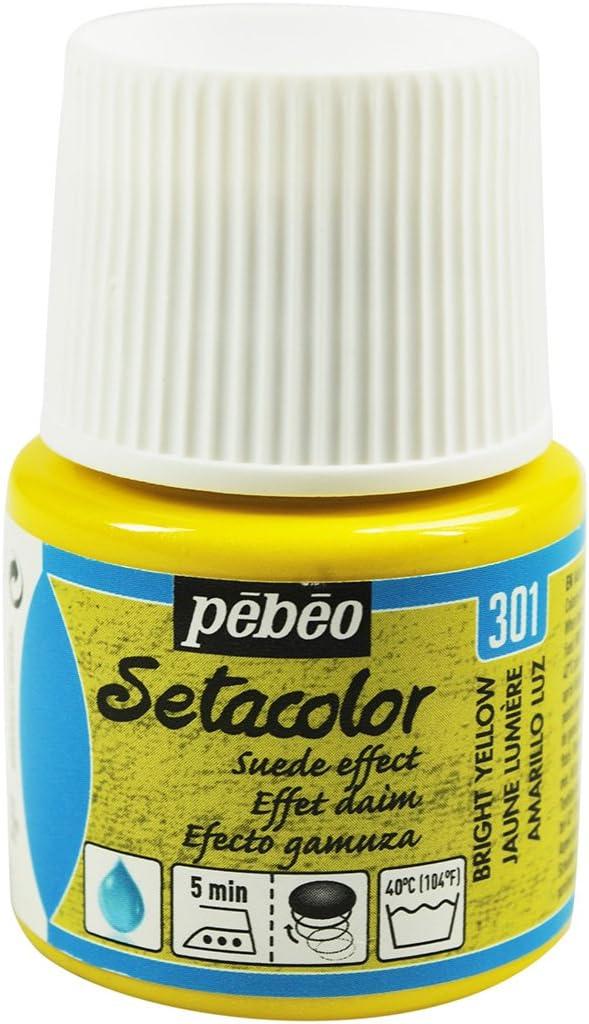 PEBEO Setacolor - Pintura para Tela (Efecto Gamuza, 45 ml), Color Amarillo