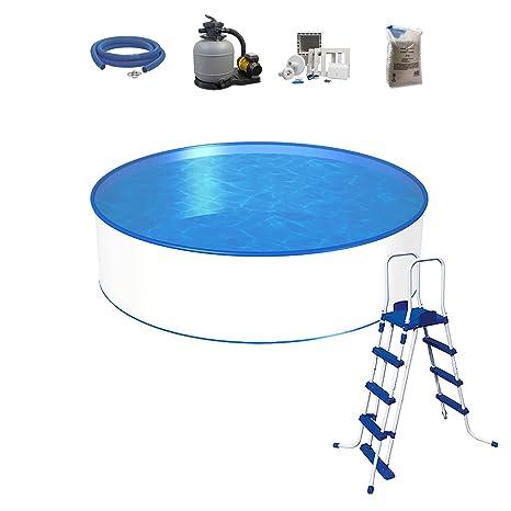 Pool Set, tamaño a elegir, profundidad 120 cm, piscina con pared de acero