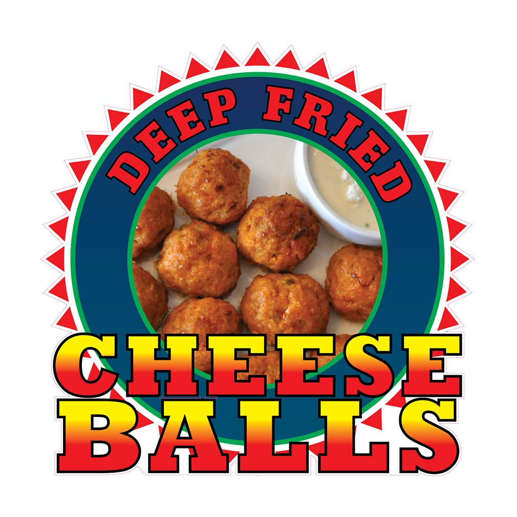 Amazon.com : Die-Cut Sticker Multiple Sizes Cheese Balls Restaurant & Food Snacks Indoor Decal Concession Sign Red - 24in Longest Side : Office Products