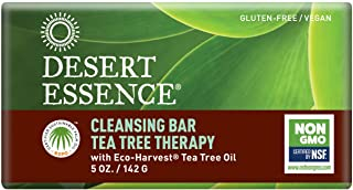 product image for Desert Essence Tea Tree Therapy Cleansing Bar Soap - 5 Ounce - Therapeutic Skincare - All Skin Types - Jojoba Oil - Aloe Vera - Palm Oil - Moisturizes Face and Body