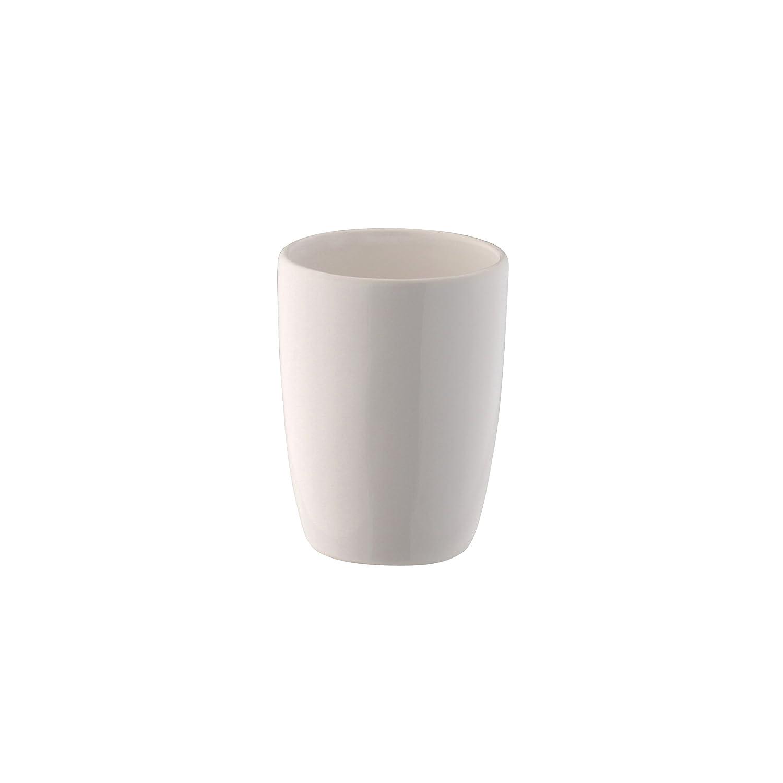 Axentia Spazzolini Pisa Bianco, finemente lavorato in ceramica –  Porta spazzolino, Porta scopino con moderno e semplice design, supporto per spazzolino da denti con bellissimo colore finemente lavorato in ceramica-Porta spazzolino 1283