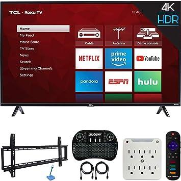 TCL 55S425 Kit de 4 series 4K Ultra HD Roku Smart TV (modelo 2019) con kit