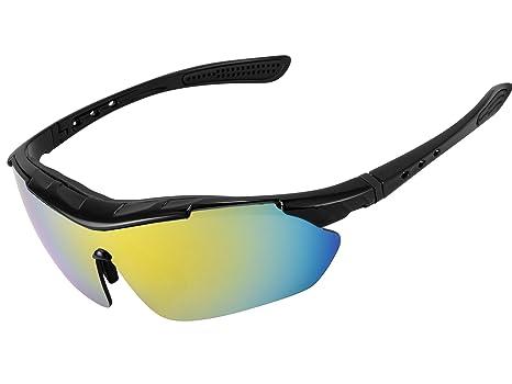 a095dceec6 kukoti polarizadas gafas de sol deportivas con 5 lentes intercambiables  UV400 protección deportes gafas de sol