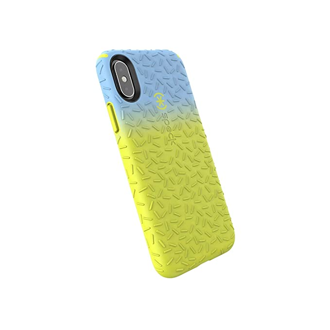 competitive price e6a9f 57828 Speck Products CandyShell Fit iPhone Xs/iPhone X Case, Periwinkle Ombre  Antifreeze Yellow/Antifreeze Yellow