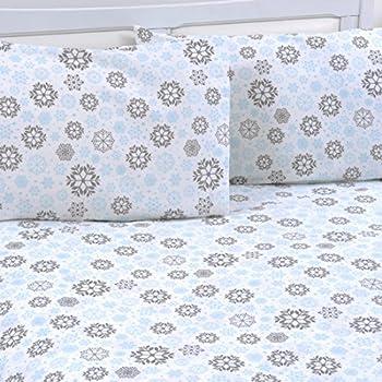 mellanni 100 cotton 4 piece printed flannel sheets set deep pocket warm