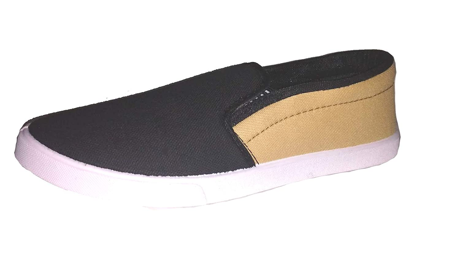 1f9075f7d95 fitbloom Black   Khakhi Loafer Shoe for Men Boys  Buy Online at Low Prices  in India - Amazon.in