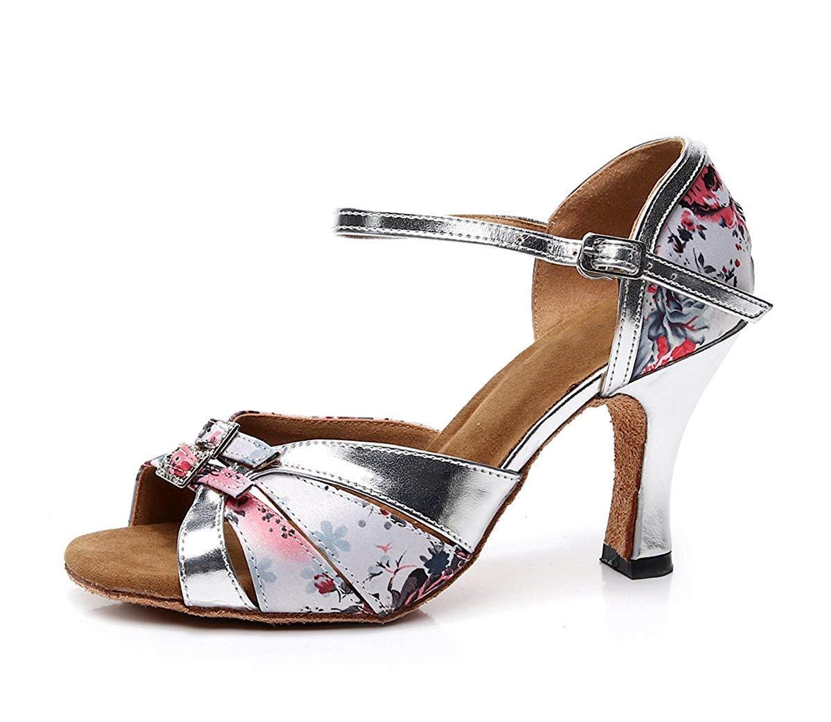 TJ7138 Damen Mädchen Blaumendruck Knoten HellRosa Synthetische Latin Dance Schuhe Hochzeit Sandalen UK 7 5 (Farbe   - Größe   -)
