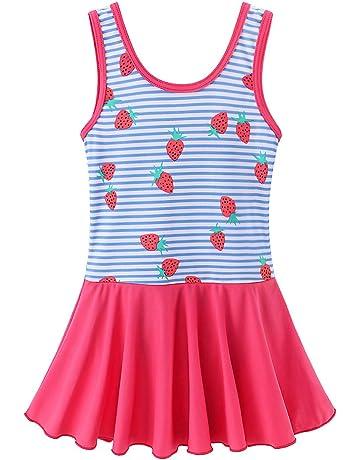 7fae6cd238 BAOHULU Toddler Girls Swimsuit One Piece Cute Floral Dress Swimwear 3-8  Years