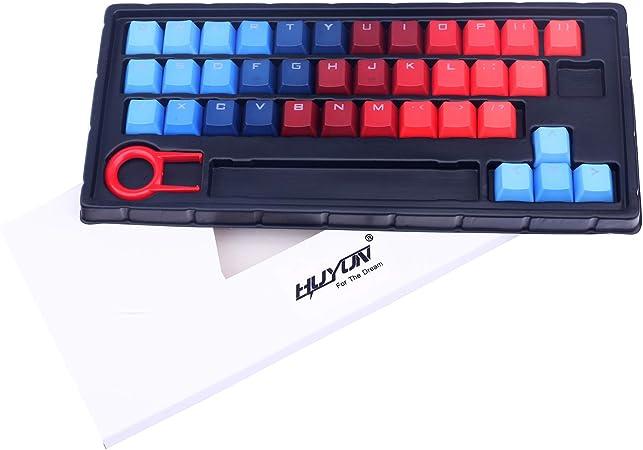 Teclas de color degradado 37 PBT de doble disparo de inyección retroiluminadas para teclados de juegos mecánicos Cherry/ikbc/NOPPOO/Ducky