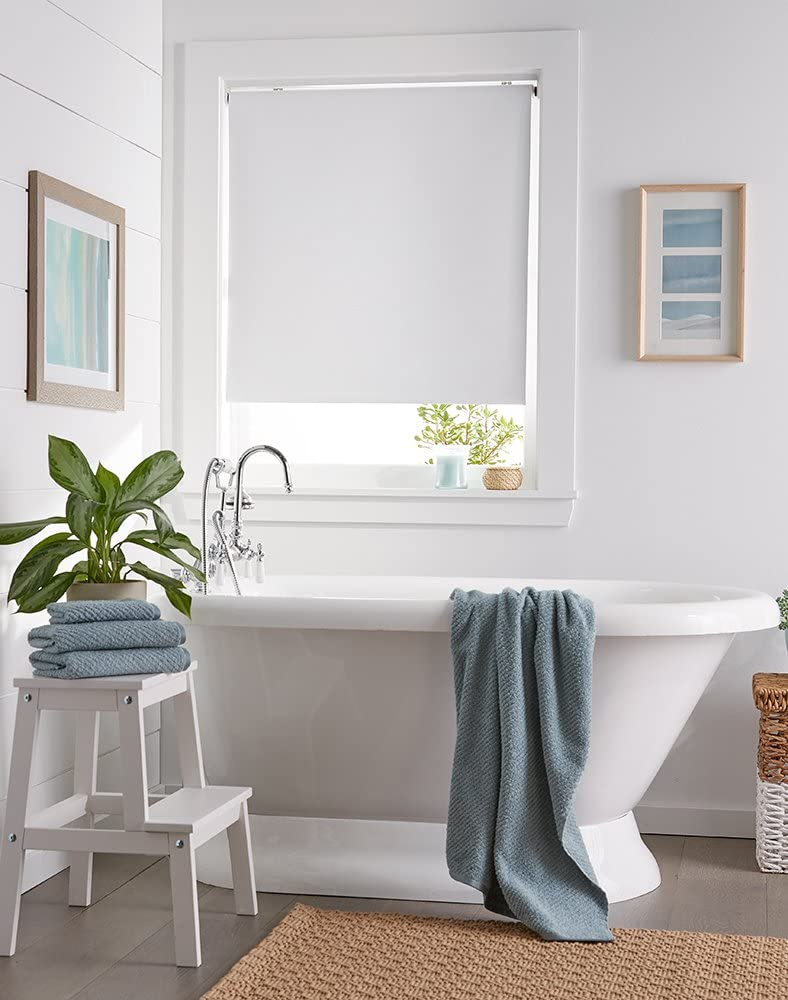 "Curtainworks Addison Window Shade, 31"" W x 64"" L, White"