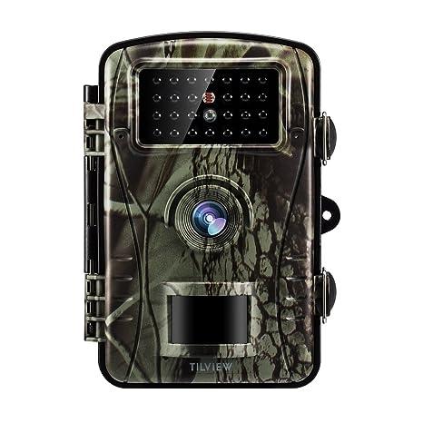 Tilview Cámara de Caza 12MP 1080P HD Cámara de Vigilancia Trail Cámara IR LEDs Visión Nocturna hasta 20M IP66 Impermeable: Amazon.es: Electrónica