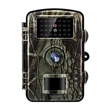 Tilview Cámara de Caza 12MP 1080P HD Cámara de Vigilancia Trail Cámara IR LEDs Visión Nocturna