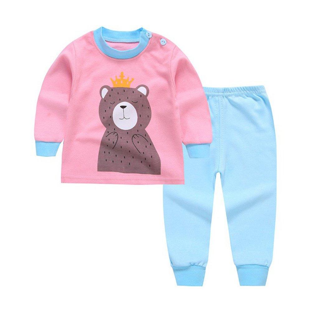 Kid Boy Girl Homewear Pyjamas Set Cartoon Niedlich Langarm-Shirt und Hosen 2 Stück Kleidung Set