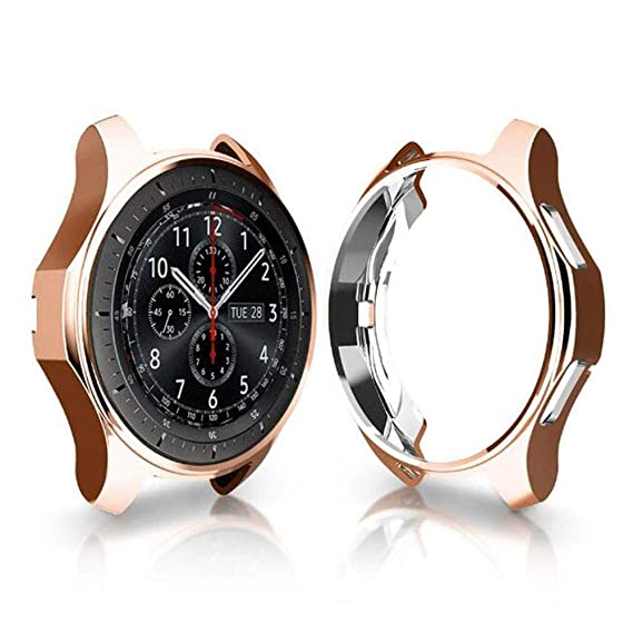Case for Galaxy Watch 42mm, Ktcpt Soft TPU Plated [Scratch-Proof] All-Around Protective Bumper Shell for Samsung Galaxy Watch 42mm Smartwatch (Rose ...