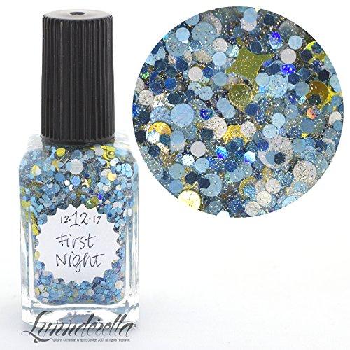Lynnderella 2017 Advent Nail Polish Multiglitter Topper-December 12-First Night