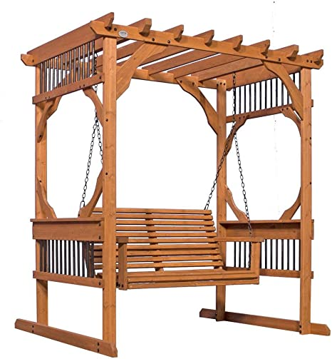 Backyard Discovery - Pergola de madera para patio, 3 personas, color cedro: Amazon.es: Electrónica