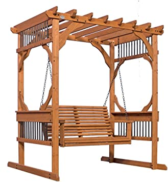 Backyard Discovery - Pergola de madera para patio, 3 personas ...