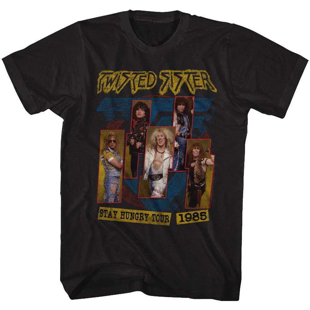 Twisted Sister 1972 American Heavy Metal Band 1985 Stay Hungry Tour T Shirt Tee
