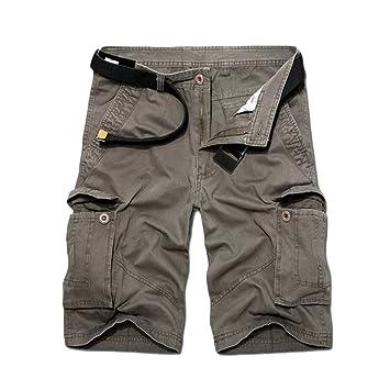 Guiran Hombres Bermuda Cortos Pantalones Vintage Militares Cargo Shorts Pantalones Deporte Con Multi-Bolsillo Verde Del… vIpCFo5