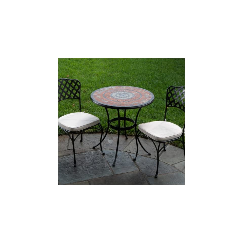 Alfresco Home Asti Indoor Outdoor Marble Mosaic Bistro Set, 30 Inch  Patio Dining Chairs  Patio, Lawn & Garden