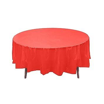 Amazon.com 12 84\  Red Round Plastic Table Covers Tablecloths Disposable Party Picnic Table Decoration Supplies. Toys \u0026 Games  sc 1 st  Amazon.com & Amazon.com: 12 84\