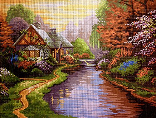 Hudemas Needlepoint Kit T. Kinkade lanscape 15.7
