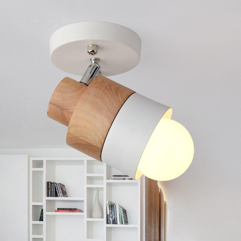 Illuminazione Per Interni Moda Retro Applique Di Wxp Nordic Wooden Wall Faro Simple Modern Creative Camera