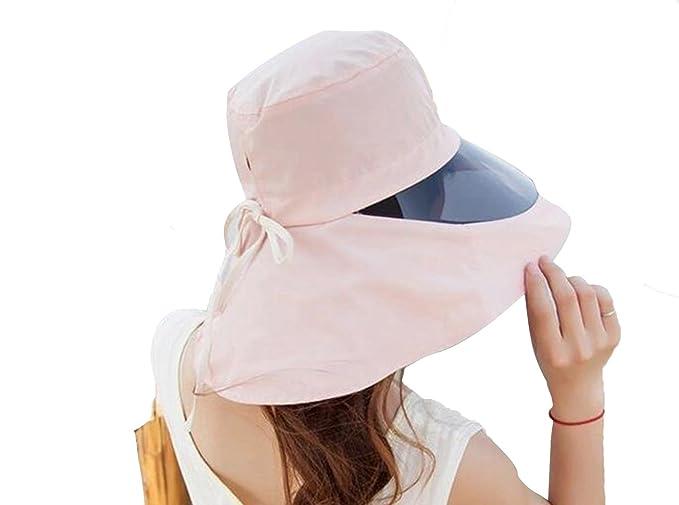 KM Women s Outdoor Waterproof Anti-uv Hats Wide Brim Caps Cycling Sun Hat  (Apricot 95c29036637