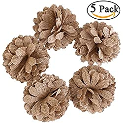 5 Hessian Burlap Daisy Flowers Wedding Home Party Favor Celebration Decor Gift