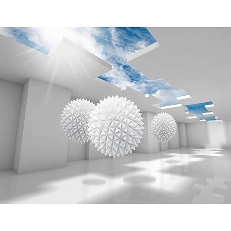 Fototapeten 3D - Blau 352 x 250 cm Vlies Wand Tapete Wohnzimmer  Schlafzimmer Büro Flur Dekoration Wandbilder XXL Moderne Wanddeko - 100%  MADE IN ...