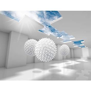Fototapete 3D - Blau 396 x 280 cm Vlies Wand Tapete Wohnzimmer ...
