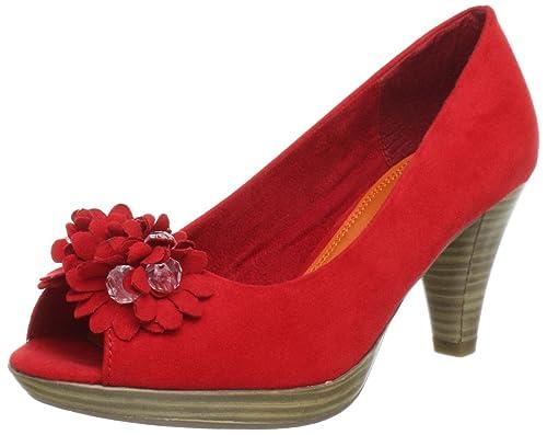Marco Tozzi Flamenco Peeptoe Damen Hellgrau Schuhe Pumps