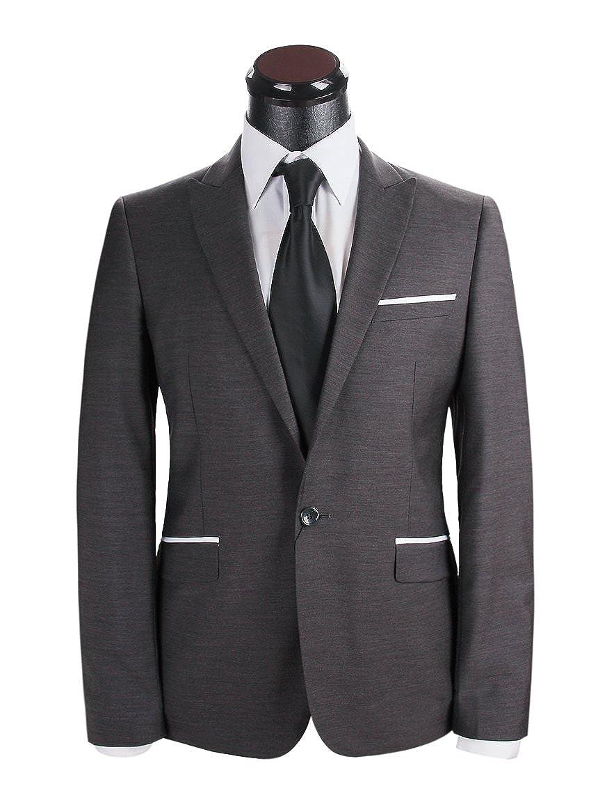 Carpaton 2016年には、公式の結婚式のスーツの男性など、最新のブラックフォーマルスーツ新郎の貴族の服は、ハンサムな男性はウエディングパーティードレス設定します B01BAI0YJW XXX-Large