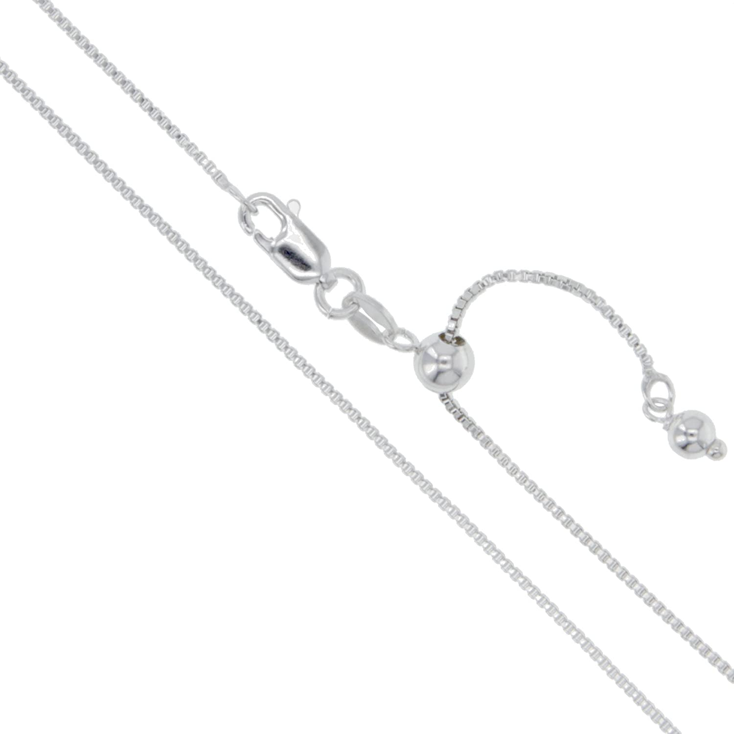 CHOOSE YOUR CLASP Sterling Silver 1mm Box Chain Necklace