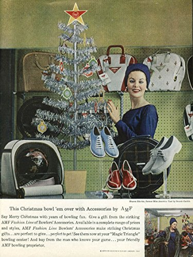 Miss America Sharon Ritchie for AMF Bowling Balls & Shoes ad 1960