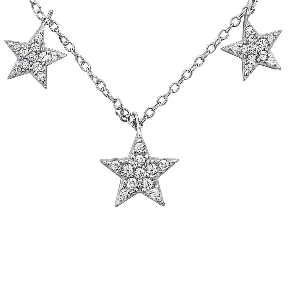 Chokers and Lariat Necklaces Crush /& Fancy Star Necklace Trendy Star Pendants 925 Sterling Silver and Glimmering Crystal Star Necklace Collection