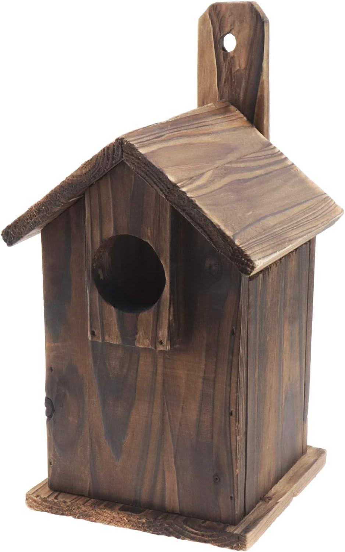 Be In Your Mind - Caseta de madera para pájaros salvaje, versátil y tradicional maciza, resistente e Intemperia para Robin diferentes tipos de pájaros