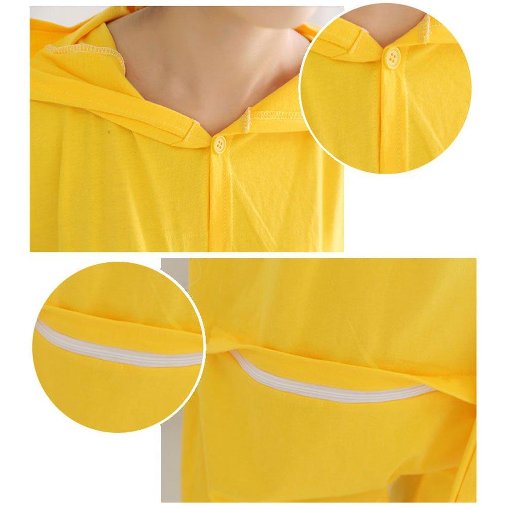 Yimidear Unisex Pikachu Costume Summer Cute Cartoon Cotton Pajamas Animal Onesie (XL) by Yimidear (Image #6)