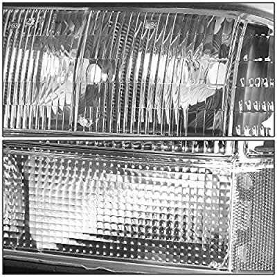 Replacement for 98-04 GMC Sonoma/Jimmy/Oldsmobile Bravada Black Housing Clear Lens Headlights/Lamps - Pair: Automotive
