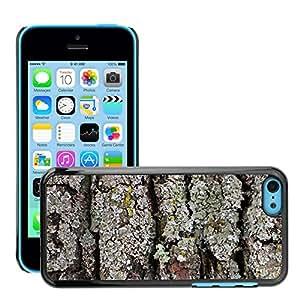 Print Motif Coque de protection Case Cover // M00153700 Corteza de madera de árbol de corteza // Apple iPhone 5C