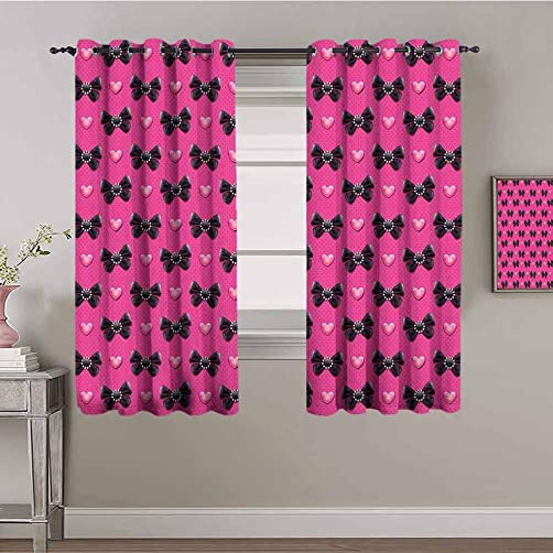Pearls Black Out Curtain Panels